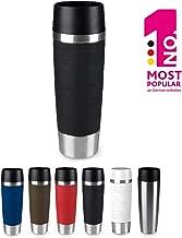 Emsa515616 Travel Mug Standard-Design Grande, Thermobecher/Isolierbecher, 500ml, hält 6h heiß/ 12h kalt, 100% dicht, auslaufsicher, Easy Quick-Press-Verschluss, 360°-Trinköffnung, Farbe schwarz