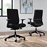 HON Basyx Biometryx Commercial-Grade Fabric Upholstered Task Chair, Black