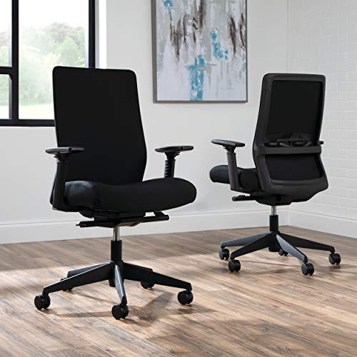 HON BASYX Biometryx Commercial-Grade Fabric Upholstered Task Chair, Office Chair, in Black (BSX156VA10T)