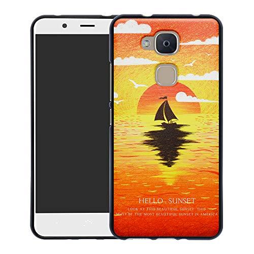 YCGG BQ Aquaris VS Plus/V Plus Hülle, Ultradünne Flexibles Soft TPU Silikon Muster Weich Handyhülle Case für BQ Aquaris VS Plus/Aquaris V Plus(Nicht für andere Modelle),Sunset