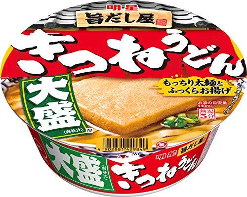 明星食品『旨だし屋 きつねうどん 大盛(西向け)』