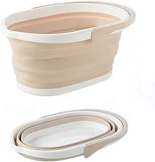 BBGSFDC Portable Pliable Seau Accueil Voyage Nettoyage extérieur Seau Pêche Camping Car Wash Mop Pliant Bucket (Color : Ye...