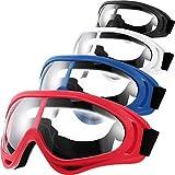 Frienda 4 Paia Occhiali Protettivi Occhiali da Vista Protettivi per Adolescenti Gioco Battaglia Escursionismo e Prevenzione della Sabbia (Blu, Rosso, Bianco, Nero)