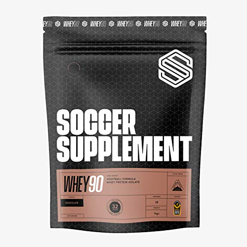 SOCCER SUPPLEMENT - Whey90 Footballer Formula- Whey Protein Isolate - Build Lean Muscle - Great Tasting Protein Shake (Chocolate)