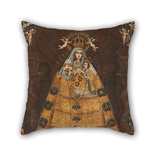 NA Pintura al óleo Escuela Anónima de Cusco - Nuestra Señora del Rosario con Santo Domingo y Sant