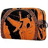 Bolsa de maquillaje personalizada para brochas de maquillaje, bolsas de aseo portátiles para mujeres, bolso cosmético, organizador de viaje, hombre romano y águila