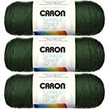 Caron Simply Soft Yarn Solids (3-Pack) Dark Sage H97003-9707