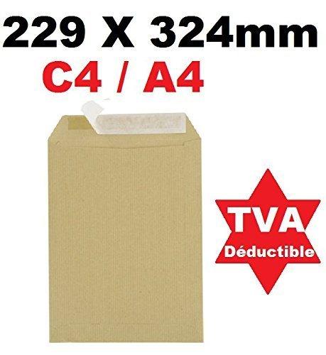 500 Große A4 Umschlag Mail Beutel - C4 BROWN 90g Papierformat 229 x 324 mm