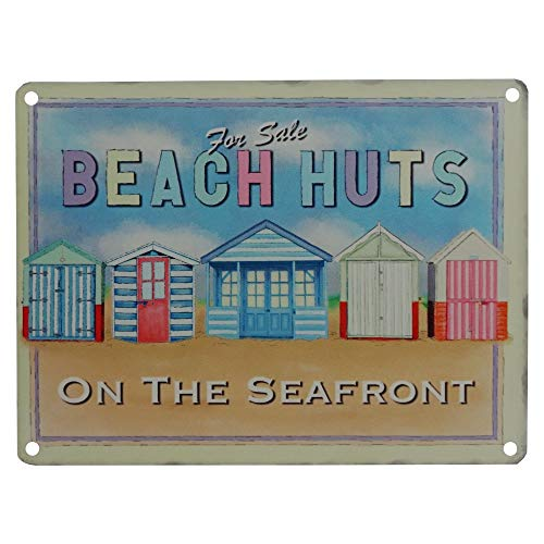 Cozy-T for Sale Beach Huts on The Seafront Metallolo Wall Cartello