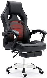 Renovatie Huis Bureaustoel Rugleuning Bureau Draaistoel Ergonomische bureaustoel Gaming stoel Pu-leer Lendensteun Hoge rug...