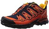 Salomon X Ultra 2 GTX, Zapatillas de Senderismo Hombre, Naranja-Orange (Deep Blue/Tomato Red/Yellow...
