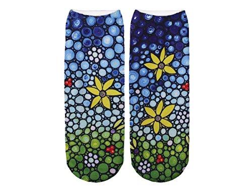 Unbekannt Socken bunt mit lustigen Motiven Print Socken Motivsocken Damen Herren ALSINO, Variante wählen:SO-L024 Blumen