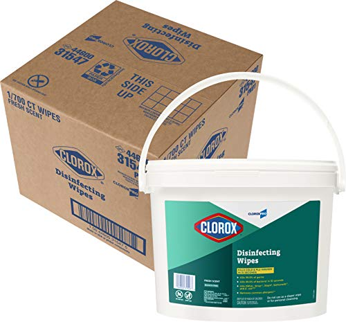 CloroxPro Clorox Disinfecting Wipes, Fresh Scent, 700 Count (31547)
