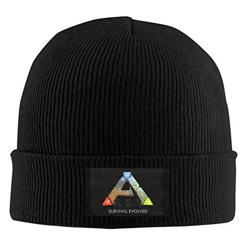Ark Survival Evolved Gorro de Punto Unisex Otoño Invierno Sombrero de Punto Gorra de Cobertura Gorra Informal Gorra de esquí cálida Beanie Cap