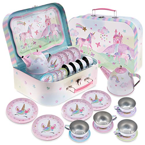 Jewelkeeper - 15 teiliges Kinder-Bleiteeset & Tragetasche - Party-Einhorn-Design
