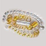 Silber & Gold Mix - Metallic Luftschlangen im 5er Sparpack - 5 Rollen mit je 18 holografisch-glitzernden Luftschlangen - für Silvester, Karneval, Fasching, Geburtstag, Hochzeit - PARTYMARTY GMBH® - 2