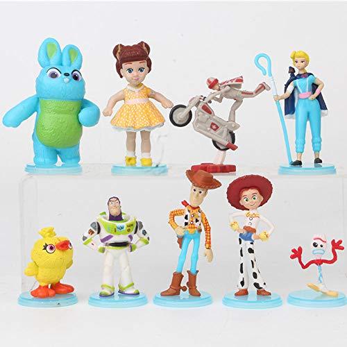 Brandless 9 / pcs/Set Toy Story 4 Buzz Lightyear Woody Jessie Forky Slinky Dog Lotso Bullseye Horse Figura de acción Juguetes