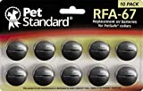 PET STANDARD RFA-67 Replacement Batteries Compatible with PetSafe Dog Collars (Pack of 10)