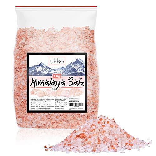 Himalaya Salz grob, 1kg Kritallsalz, auch naturbelassenes Steinsalz genannt in reinster Qualität von Ukko