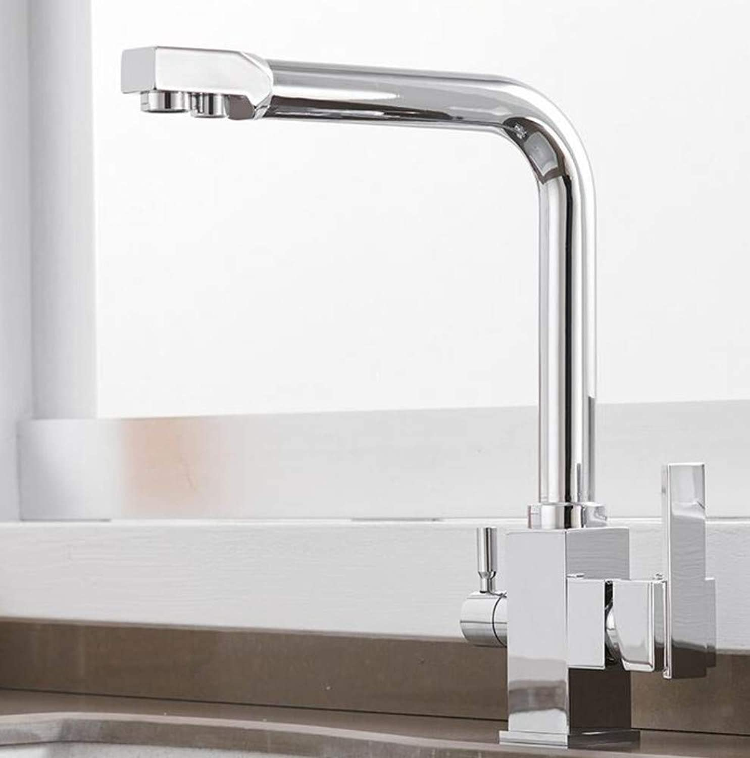 Bathroom Faucet Deck Mount Mixer Tap 360 Degree redation with Water Purification Features Single Hole Crane for Kitchen