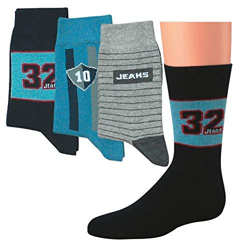 Kinder Socken 6 Paar Jungen oder Mädchen,Schadstoffgeprüfte Textilien nach Öko-Tex Standard 100 (35/38, Jeans)