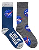 Hyp NASA Logos I Need My Space Men's Crew Socks 2 Pair Pack