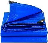 Rabbfay Ligera Protector De Lona Impermeable con Ojales Cruz Al Aire Libre De La Armadura De Pantalla De Tela Lona Cubierta Portátil Portada De Lona De Tierra,Blue_30x36ft/10x12m
