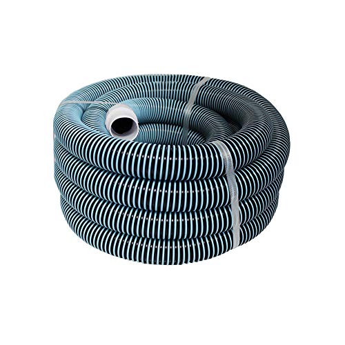 Durable 30 Feet Heavy Duty Swimming Pool Vacuum Hose 1-1/2 x 30 Lightweight and Flexible W/ Sturdy Swivel Cuff Compare To Part 33430 Fits all Pool Vac Hoses W/ Manual Pool Vacuum Heads, Think Crucial