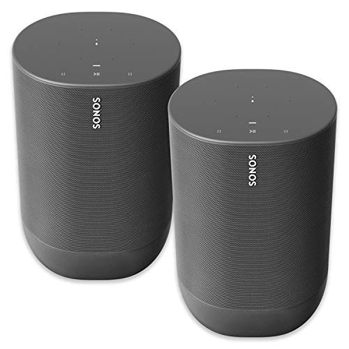 Two Room Sonos Move - Battery-Powered Smart Wi-Fi and Bluetooth Speaker with Alexa Built-in