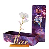 Golden Foil Flower with Light | InKach Colorful Artificial Rose Flower...