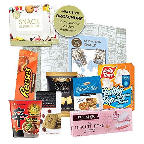 Geburtstagsgeschenk Snacks & Süßigkeiten aus aller Welt | Geburtstags Geschenkbox | Geschenk Set | besondere Geschenkidee zum Geburtstag I Probierset