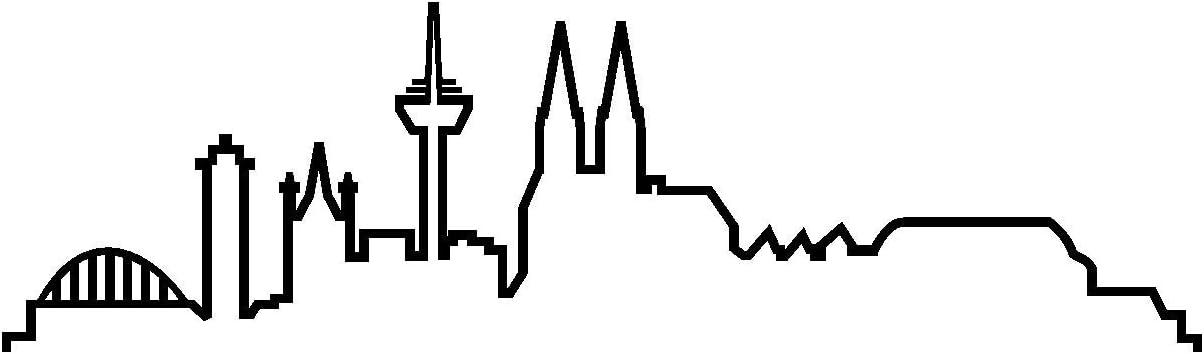 Plot4u Köln Skyline Aufkleber Silhouette 20x5 8cm Schwarz Küche Haushalt