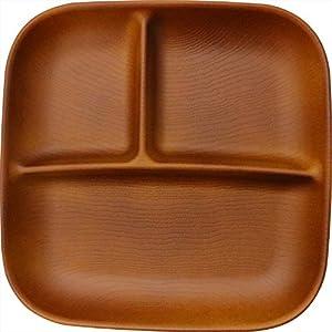 正和(Showa) ランチプレート スクエア ワンプレート L 木目 樹脂 ライトブラウン 電子レンジ・食洗機OK NH home 日本製 軽い 割れにくい 食器 アウトドア 70942