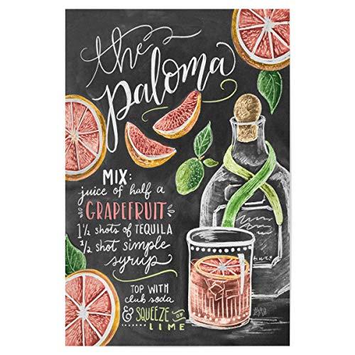 artboxONE Poster 30x20 cm Cocktails Typografie The Paloma hochwertiger Design Kunstdruck - Bild Paloma Rezept Getränk