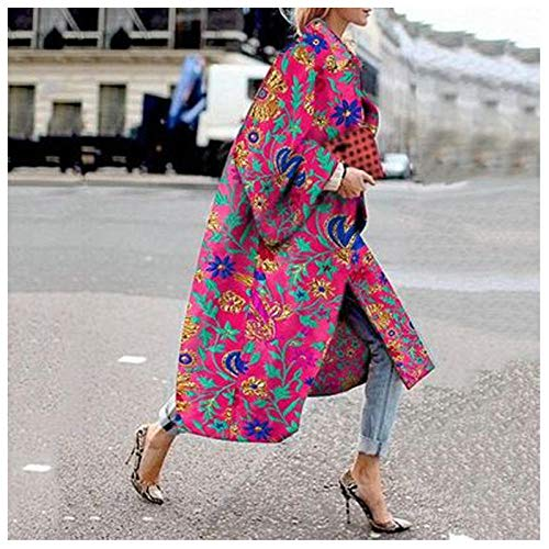 LYHOMEAN WOMENS TRENCH COAT WINDBREAKER WOMEN`S LONG PRINTED WINDBREAKER LADIES CLOTHING PATCHWORK WINDBREAKER CASUAL STREETWEAR WOMEN`S COAT COATS (COLOR : 9 SIZE : XXXXX-LARGE)