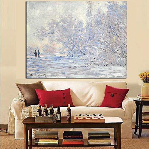 Imprimir Impresionista blanco Paisaje nieve Pintura