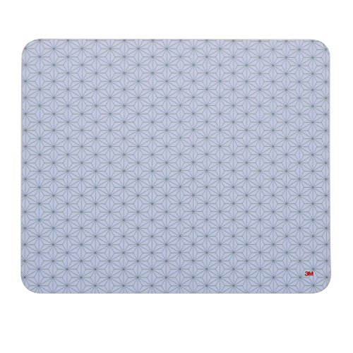 """3M Precise Mouse Pad with Repositionable Adhesive Back, Enhances the Precision of Optical Mice at Fast Speeds, 8.5"""" x 7"""", Frostbyte (MP200PS2)"""