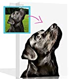 """Custom Dog Painting from Your Photo, Custom Dog Canvas and Custom Pet Paintings from Your Photo Custom Dog or Pet Portraits on Canvas Designed by Artists, Gift for Dog Lovers (Cream, 8"""" X 10"""")"""