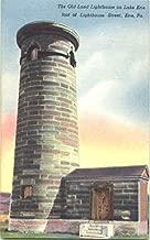 The Old Land Lighthouse On Lake Erie, Lighthouse Street Erie, Pennsylvania Original Vintage Postcard