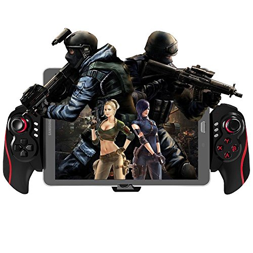 BEBONCOOL Tablet Bluetooth Game Controller for Android Tablets / Phone / Samsung Gear VR / Emulator (Red)