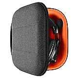 Geekria UltraShell Funda compatible con Turtle Beach Stealth 700, X12, PX22, PX24, Elite Pro 2 + auriculares, bolsa de transporte protectora de viaje con almacenamiento de cable (gris oscuro)