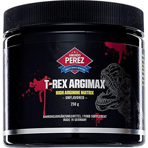 T-REX ArgiMax - High L-Arginin HCL Matrix - 250 g - 3000mg L Arginine hcl - inkl. Dosierlöffel