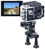 Somikon Fotocamera Subacquea: HD Action Cam DV-1212 V2 con Custodia Subacquea, IP68, IP68, (Fotocamera da Casco)