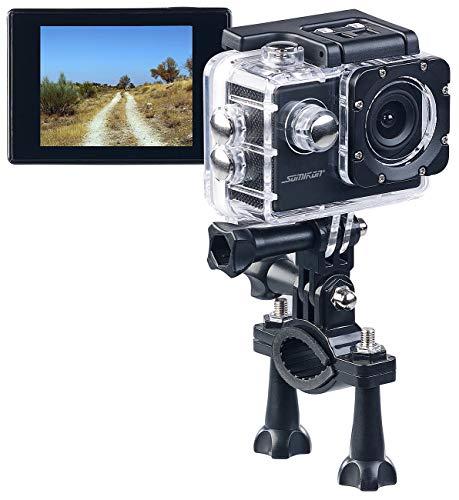 Somikon Aktioncam: HD-Action-Cam DV-1212 V2 mit Unterwasser-Gehäuse, IP68, bis 30 m (Fahrrad Kamera)