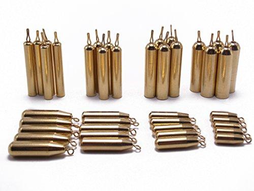 CATCHSIF 41pcs Brass Pencil Drop Shot Fishing Weights