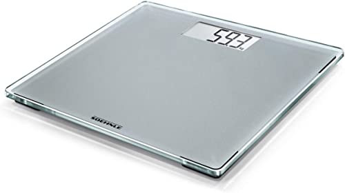Soehnle Style Sense Compact 300 Silver Bathroom Scale, digital scale with large weighing surface, weighs up to 180 kg...