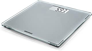 Soehnle Style Sense Compact 300 Silver Bathroom Scale, digital scale with large weighing surface, weighs up to 180 kg, electronic scale with easy to read display (colour: grey)