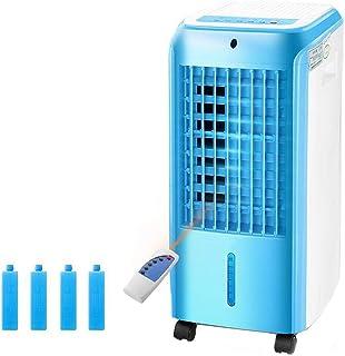 Unknow Ventilador portátil Individual de Aire Acondicionado frío, en Movimiento Control Remoto Inteligente Enfriador de Aire con deshumidificador Enfriadores evaporativos Hogar Dormitorio-Azul