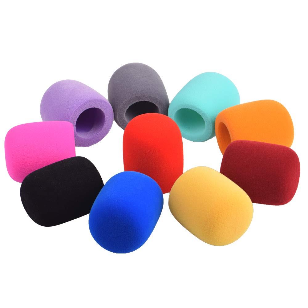 5 piezas Micr/ófonos de mano parabrisas Fundas de espuma de micr/ófono compatibles con micr/ófonos de tipo bola est/ándar para KTV Karaoke DJ