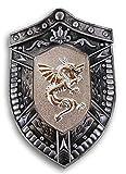 Black Knight Silver Bouclier Dragon Shield for Children's Costume